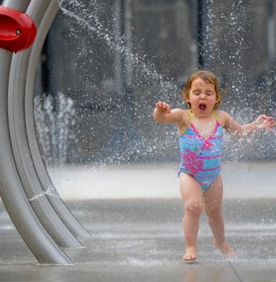 Splashpads are a central point for families and kids