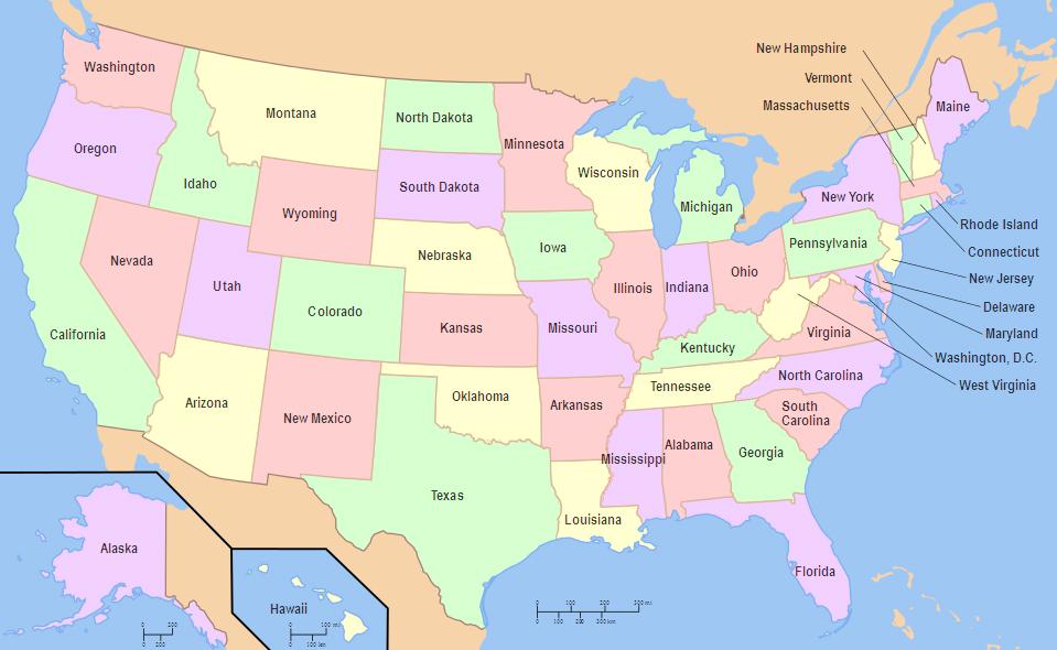 Pool Service USA Management – Map Usa East