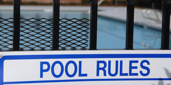 water safety for kids pool rules sign