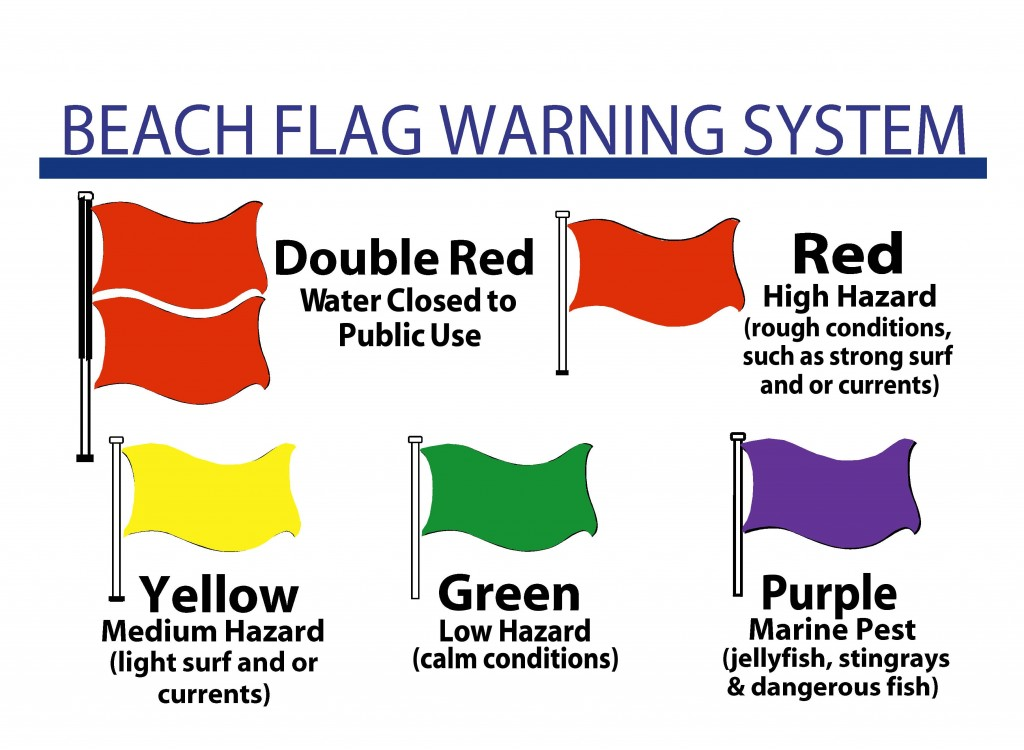 beach safety flages